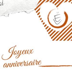 Carte Cadeau – Thème Anniversaire